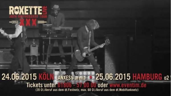 Реклама концертов Roxette в Германии