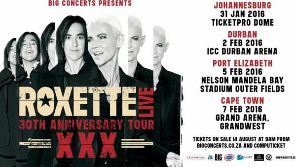 Объявлены даты концертов Roxette в 2016 году